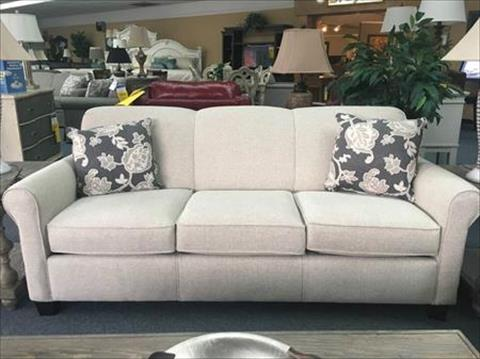 Super Angie Stationary Sofa Tight Back Three Cushion Aria Linen Pabps2019 Chair Design Images Pabps2019Com